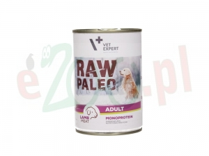 4T RAW PALEO DOG ADULT LAMB MEAT 400 G. ( pies jagnięcina puszka )