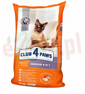 CLUB 4 PAWS Adult Indoor 14 kg ( koty otyłe )