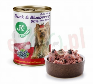 Duck & Blueberry Premium Paté with Chunks mięsna konserwa super premium 400 G ( pies puszka kaczka )