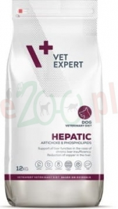 4T VETERINARY DIET DOG HEPATIC 12 KG ( wątroba pies )