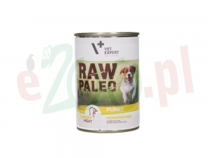 Hit 5+1Gratis 4T RAW PALEO DOG PUPPY TURKEY MEAT 400 G. ( pies szczeniaki indyk )