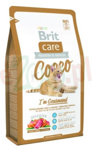 BRIT CARE CAT COCCO I'M GOURMAND 400 G ( kot kaczka łosoś )