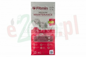 FITMIN DOG MEDIUM MAINTENANCE 15 KG ( pies tania karma )