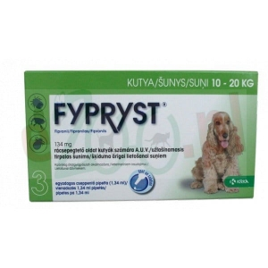 FYPRYST 134 MG PIES 10-20 KG /3 PIPETY/