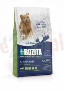 BOZITA DOG GRAIN FREE ADULT PLUS Z ŁOSIEM 1,1 KG