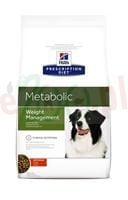 Extra pakiet 2 op.  HILL'S CANINE Weight Management METABOLIC 12 KG + ( Gratis 5 kg HILL'S PD CANINE K/D + MOBILITY  odchudzanie obesity pies )