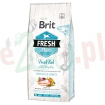 promo BRIT FRESH ADULT LARGE FISH WITH PUMPKIN 12 KG ( pies ryba kurczak dynia mobility )
