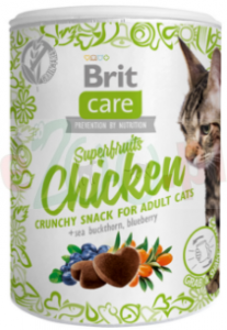 BRIT CARE CAT SNACK SUPERFRUITS CHICKEN 100 G