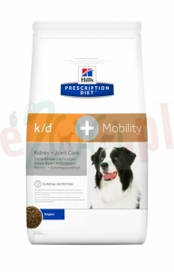 promo EXTRA pakiet 2 op.  HILL'S PD CANINE K/D + MOBILITY 12 KG ( stawy mobility nerki renal urinary )