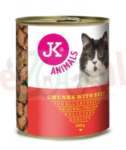 JK CAT Chunkies With Beef konserwa 400 G  JK-55112 ( koty wołowina )