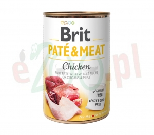 BRIT CARE PUSZKA 400 g PATE MEAT CHICKEN ( pies kurczak psy )