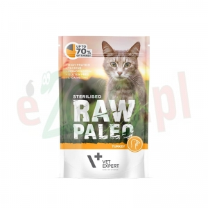 RAW PALEO STERILISED CAT TURKEY 100 g ( koty indyk kastraty )