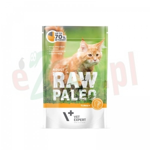 Hit PAKIET 5+1Gratis RAW PALEO ADULT CAT TURKEY 100 g ( koty indyk )