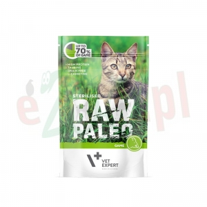 RAW PALEO STERILISED CAT GAME 100 g ( koty kastrowane )