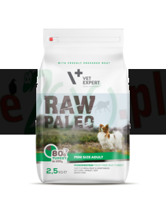 4T RAW PALEO DOG MINI ADULT 2,5 KG ( pies dorosłe małe rasy )