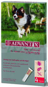 BAYER ADVANTIX SPOT-ON 2,5 ML X 4 PIPETY