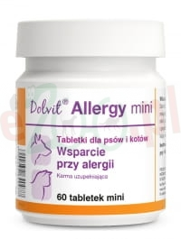 DOLVIT ALLERGY MINI 60 TABLETEK ( alergia skin skóra derm )