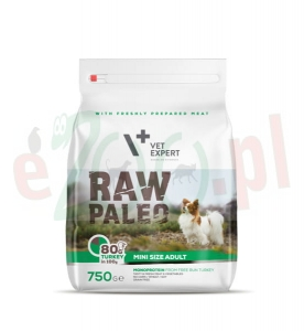 4T RAW PALEO DOG ADULT MINI 750 G ( pies małe rasy )