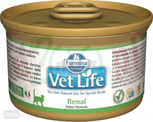 FARMINA VET LIFE NATURAL DIET RENAL CAT 85 G ( kot nerki kidney )