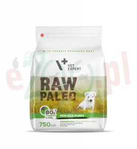 4T RAW PALEO DOG PUPPY SMALL / MINI 750 G  ( pies małe rasy eko indyk )