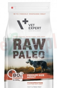 4T RAW PALEO DOG ADULT MEDIUM 2,5 KG ( pies średnie rasy indyk drób )