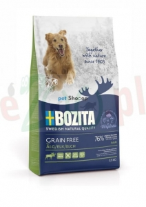BOZITA DOG GRAIN FREE ADULT PLUS Z ŁOSIEM 12 KG